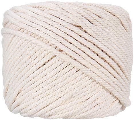 Greenpromise Cuerda de algodón beige de 50 metros para ...
