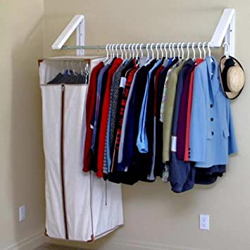 instahanger model ah3x12 m collapsible wall mounted clothes hanging system - Clothes Wall Hanger