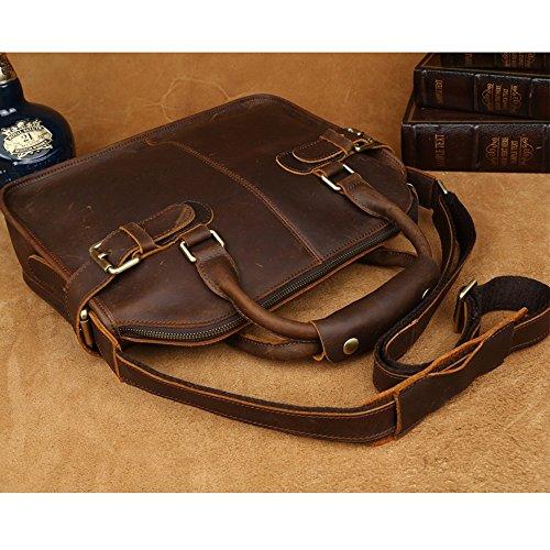 bolso de bolso edición estilo hombro maletín casual de para para Yuppie limitada portátil COWOCC vintage cuero nuevo hombres OwaU1EnqBx