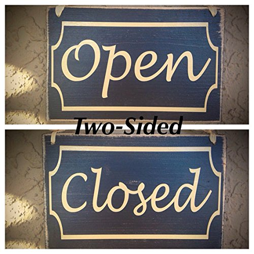 Cheap Open Closed Border 8×6 (Choose Color) Office Spa Welcome Salon Door Welcome Custom Rustic Wood Sign