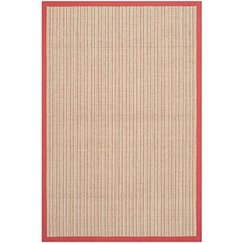 Safavieh Natural Fiber Collection NF442B Martinique Stripe Rust Sisal Area Rug (2'6