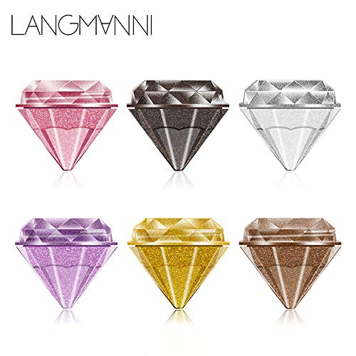 AmyDong 6 Colors Jelly Gel Highlighter - Concealer Shimmer Face Glow Eyeshadow - Diamond Pearlescent Liquid Make Up - ADN10 ()