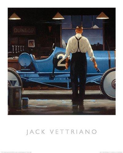 (Birth of a Dream Jack Vettriano Vintage Racing Car Sport Print Poster 15.75x19.5)