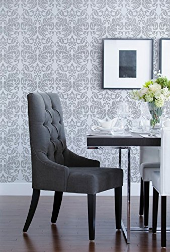 Amazon com: Acanthus Damask Wall Stencil Pattern for