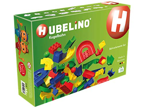 HUBELINO Marble Run - 128-Piece Run Elements Expansion Set - The Original! Made in Germany! - Certified and Award-Winning Marble Run from Hubelino