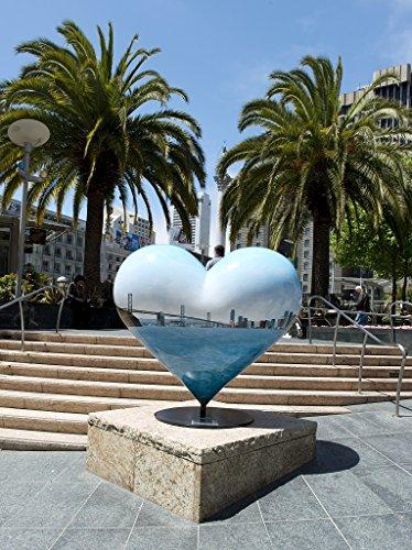 24 x 36 Giclee print ofSculpture Hearts in San Francisco public art installation Union Square San Francisco California r61 2012 by Highsmith, Carol - San Square Francisco In Union