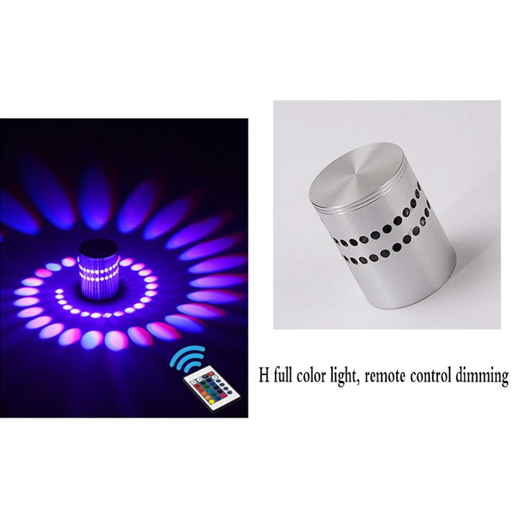 Rindasr Wall-mounted lamps, wall-mounted lamps 3W aluminum alloy LED rainbow lights Party lights (color : H)