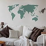 pochoir artisanal carte du monde mylar 59 4 cm x 84 1 cm royaume uni cuisine. Black Bedroom Furniture Sets. Home Design Ideas