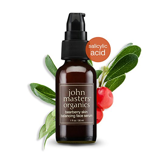 John Masters Organics - Bearberry Skin Balancing Face Serum - Sebum Control, Acne Fighting, Clear Skin, Pore Reducing, Blemish Fighting Formula for Oily or Combination Skin - 1 oz (Serum Control Sebum)