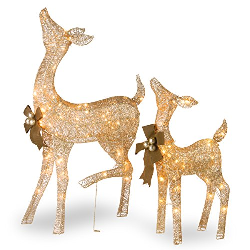 National Tree Pine 28 Inch and 38 Inch Doe and Fawn (Christmas Decorations Company)