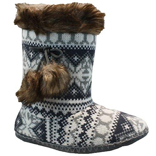 Divaz Comfort On Bottes De Taille Warm Chaussures D'hiver Slip Botte Pantoufles Ladies EqEZrO