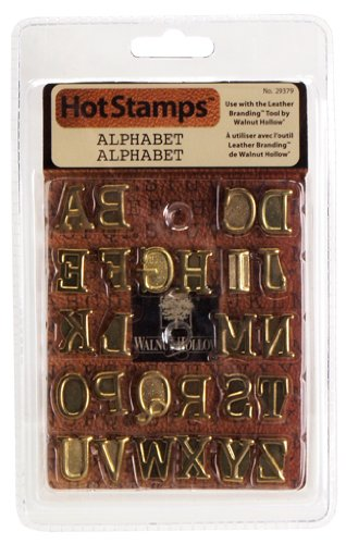 Walnut Hollow Leather Branding Hot Stamps Alphabet ()
