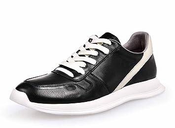 GLSHI Hommes Chaussures 2018 Printemps Nouveau Blanc Chaussures Hommes Chaussures de Sport En Cuir Chaussures Coréenne Sauvage Souliers (Couleur : Blanc, Taille : 40)
