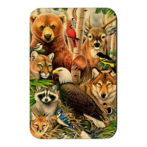 GRAPHICS & MORE Bear Eagle Cougar Wolf Racoon Deer Animals Home Business Office Sign - Wood - 6