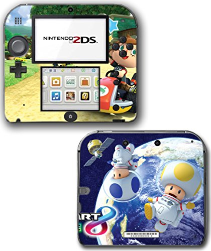 Mario Kart 8 Deluxe Animal Crossing Video Game Vinyl Decal Skin Sticker Cover for Nintendo 2DS System ()