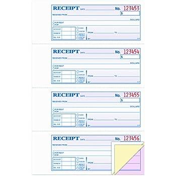 amazon com adams business forms write n stick receipt book 7 5 8