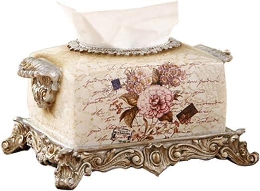 Ruixinshi - Caja de Toallas de Papel Europeo Retro, decoración, Resina Decorativa, Caja de pañuelos para Muebles, Color 1: Amazon.es: Hogar