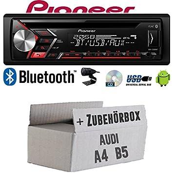 Audi A4 B5 - Radio de coche radio Pioneer S300 0bt - Bluetooth, CD, MP3, USB, Android Juego de Instalación de accesorio - Instalación: Amazon.es: ...