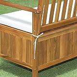 Outsunny 2-Seat Outdoor Garden Storage Bench Deck