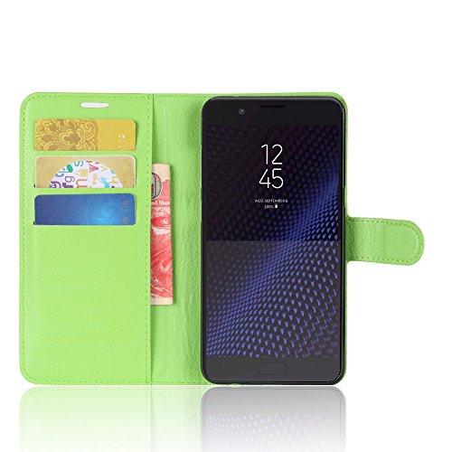 Funda Samsung Galaxy C10,Manyip Caja del teléfono del cuero,Protector de Pantalla de Slim Case Estilo Billetera con Ranuras para Tarjetas, Soporte Plegable,Cierre Magnético(JFC9-3) F