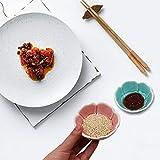 3PACK Sauce Dish Set,Rose Ceramic Appetizer Plates