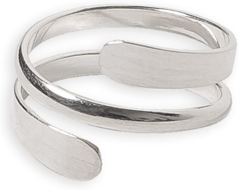 Toe Ring   Pipeline .925 Sterling Silver   Adjustable Ring for Foot Or Midi for Women, Girls, Or Men