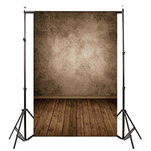 Longay 1PCS Vinyl Wood Wall Floor Photography Studio Prop Backdrop Background 3x5FT (E)