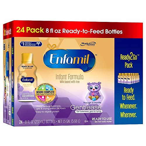 Enfamil Gentlease Infant Formula Milk-Based with Iron, Ready to Feed, 24 Count