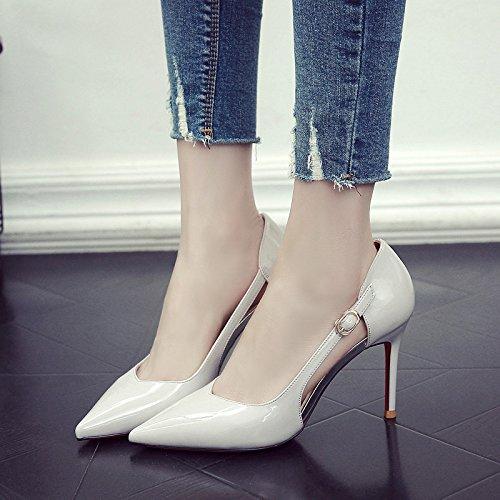 GAOLIM De Solo Gris Expuestas Las Verano De Pintura Zapatos Tacón Fina Zapatos Alto Primavera Punta Mujer Mujeres Zapatos Con FrHwFq