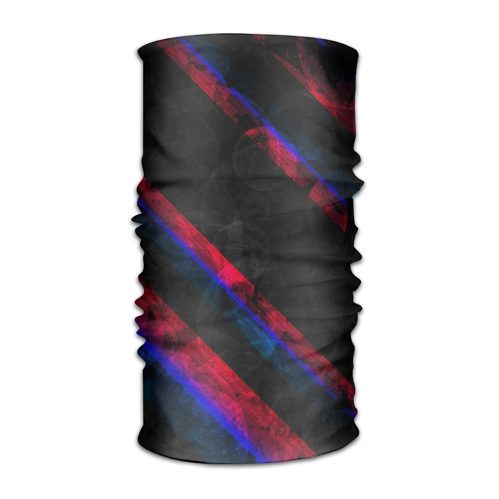 Janeither Magic Kerchief Abstract Paint Color Pattern Headband Mask Sports Seamless Breathable Hair Scarf Coverchief