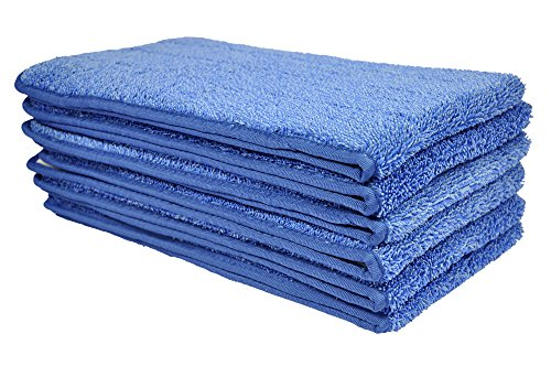 CleanAide All Purpose Mega Microfiber Mop Pad 24 Inches Blue 6 Pack