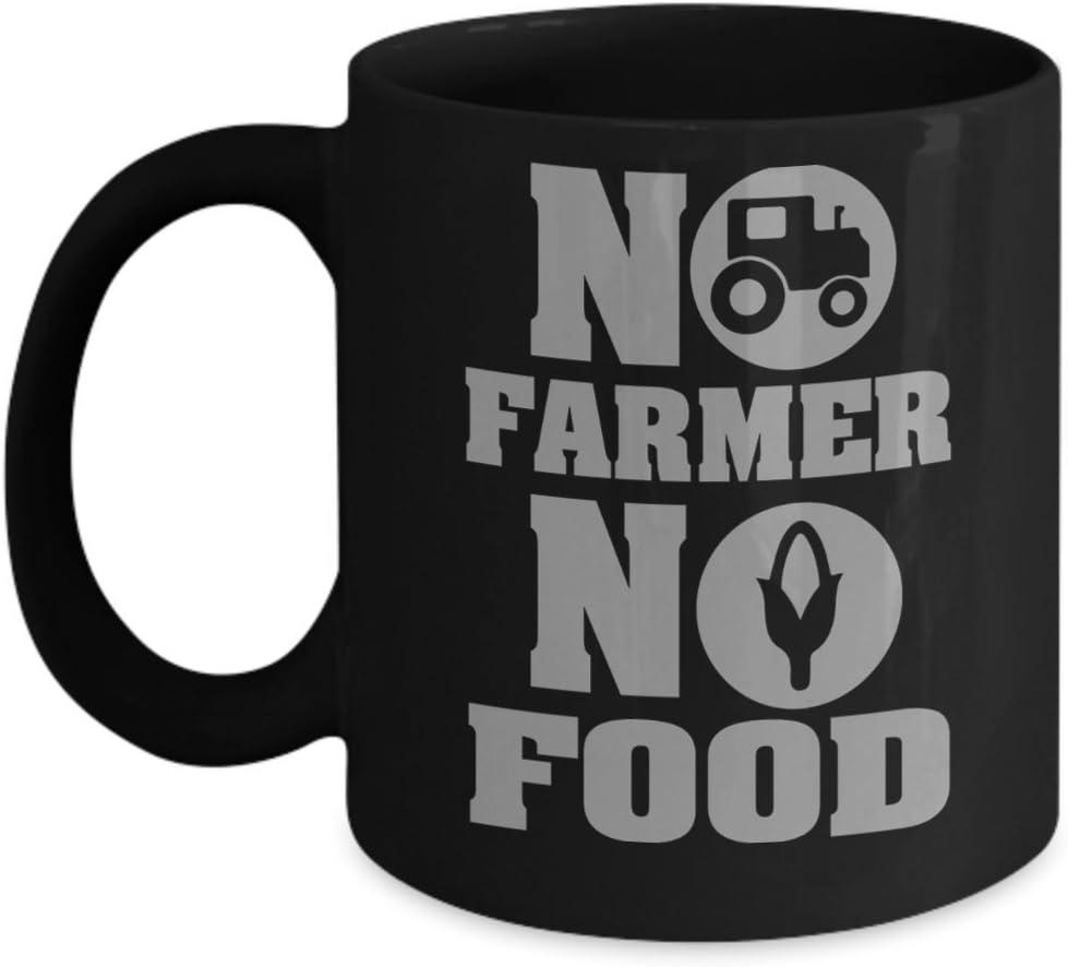 No farmer no food Mug, farm, farmer, country, garden, food, tractor, organic, humor, funny, saying, gardener, farmer gift idea