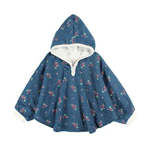 Mud Kingdom Cute Baby Girls Fleece Hooded Jacket Reversible White 18 Months-3T
