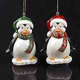Set Of 10 Red & Green Penguin Novelty Christmas Lights #UL1919