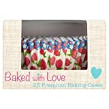 Baked With Love Rose Bud Baking Cases 25 per pack (Pack of 6)
