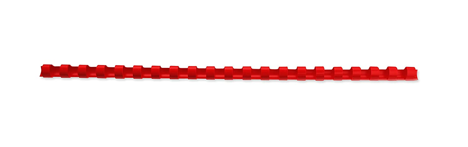 Red 165 Sheet Capacity A4 GBC CombBind Binding Combs 4028661 21 Ring Pack of 100 19 mm