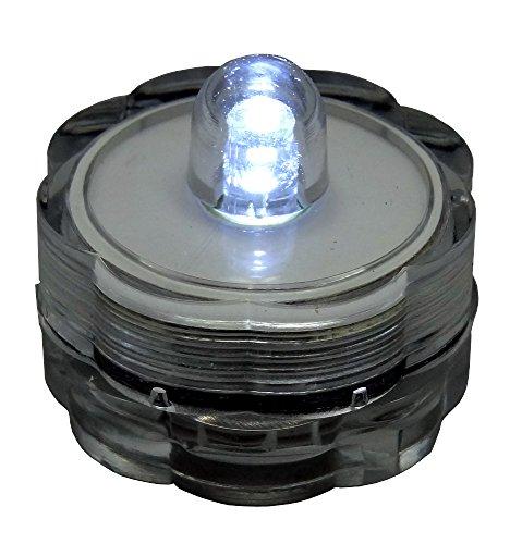 BlueDot Trading Submersible Tea Lights, White, 24-Pack