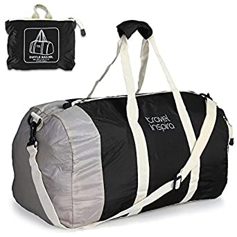 Travel Inspira Foldable Duffel Duffle Bag Collapsible Packable Lightweight Sport Gym