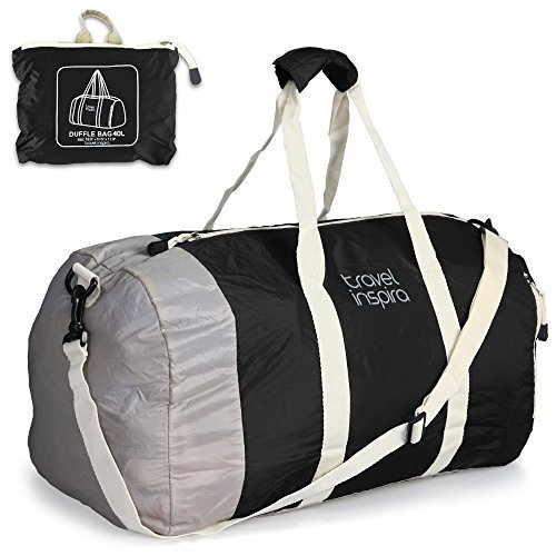 Foldable Travel Luggage Duffle Bag Lightweight for Sports, Gym, (Folding Travel Bag)