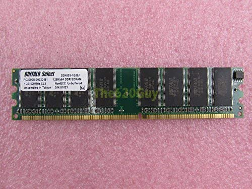 Buffalo DD4003-1G/BJ 1GB PC3200U DDR 400 184-Pin Non-ECC Unbuff Desktop Memory
