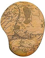 Mousepad Ergonômico Senhor dos Anéis Mapa da Terra Média