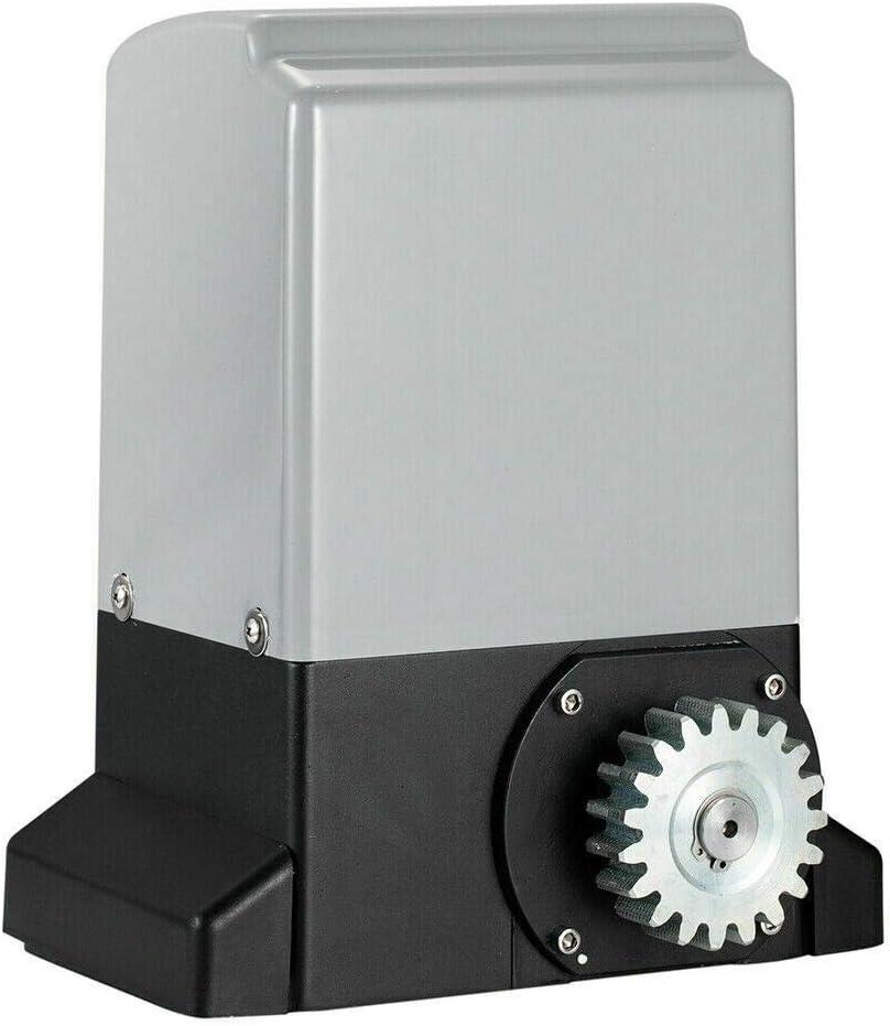 TABODD 370W Automatischer Schiebetor/öffner Elektrischer Schiebetorantrieb mit Infrarot-Sensor Hardware-Sicherheitsset f/ür die Schiebefahrt mit Fernbedienung und Zahnstange