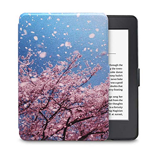 Kindle E-reader Voyage Smart Cover,FANSONG Thin Slim Fit Lightweight PU Leather Case Cover [Auto Wake/Sleep Function] for Amazon Kindle E-reader Voyage -#01