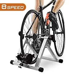 Description  8-resistance-level Turbo Trainer! Designed to meet your difference needs in your house or garden and bring you much convenience for your exercise life. Item can fit almost any bike including road bikes, mountain bikes and hybrids...