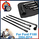 For Ford F-150 2004-2014 Spare Tire Lug Wrench Extension Tire Tool Set Coated Via Bag
