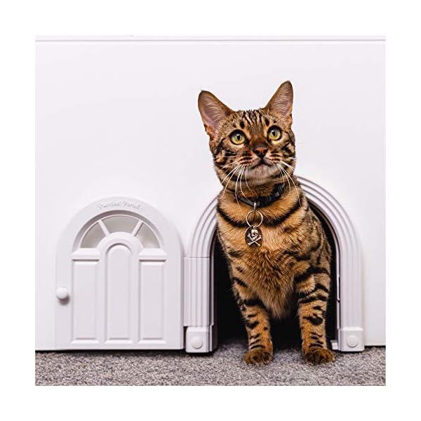 Purrfect Portal Interior Cat Door – No-Flap Cat Door for Interior Door, Cat Door Interior Door for Cats Up to 20 lbs…