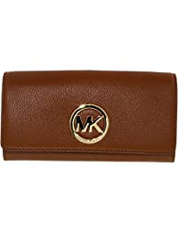 Michael Kors Women's Fulton Carryall Leather Wallet Baguette - Luggage