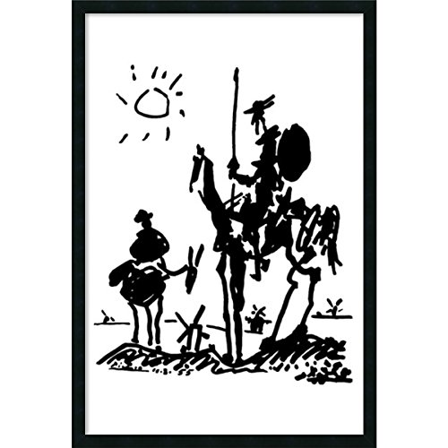 Pablo Picasso Abstract Art (Framed Art Print, 'Don Quixote' by Pablo Picasso: Outer Size 25 x 37
