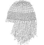 2018 Handmade Beaded Hat Pub/DJ Hair Accessory Egyptian Cleopatra Belly Dance Beaded Cap Wig Headpiece(Silver)