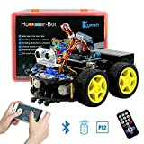 Keywish Smart Robot Car Kit Arduino DIY Learning Kit,Remote Control Car UNO R3,Tutorial,Bluetooth Modules,Line Tracking,Ultrasonic Sensors Gift Kid